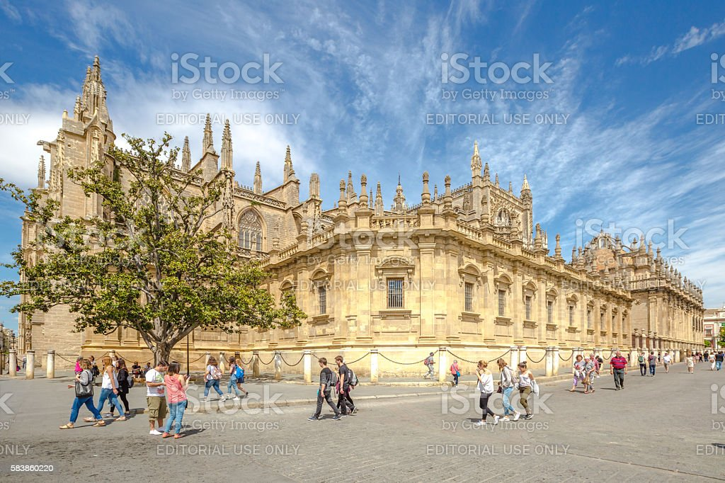 Cathedral of Seville stock photo