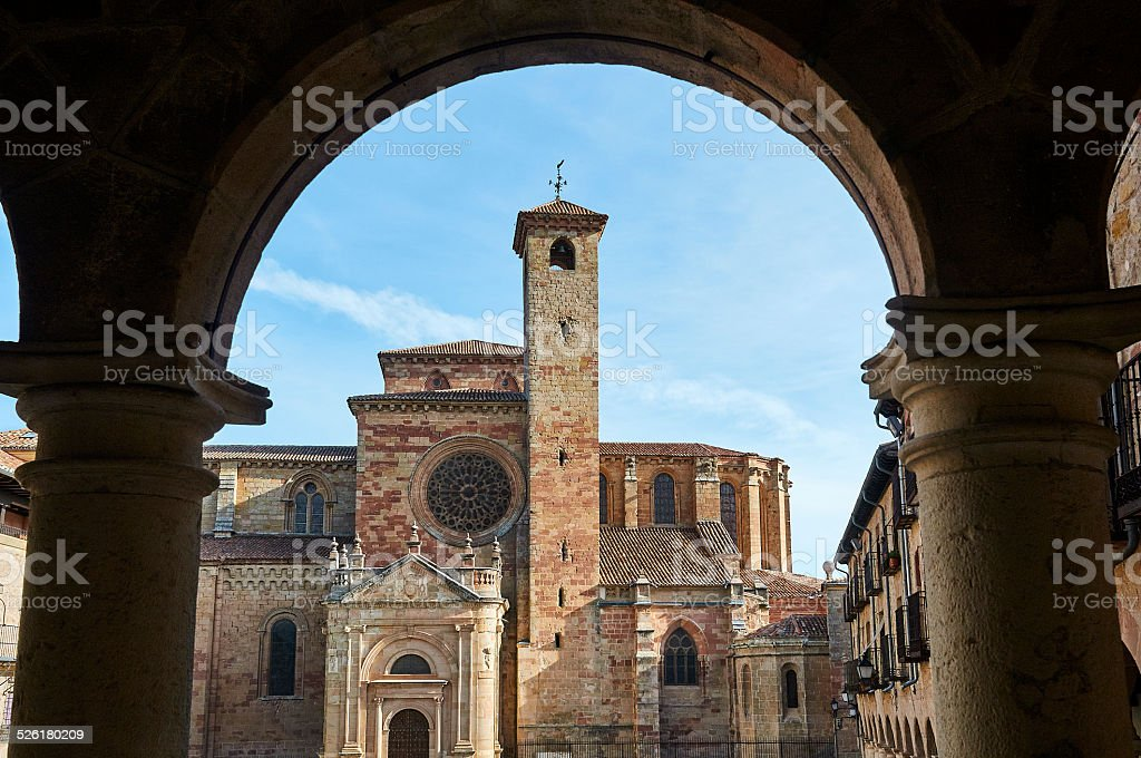 Cathedral of Sigüenza in Spain stock photo