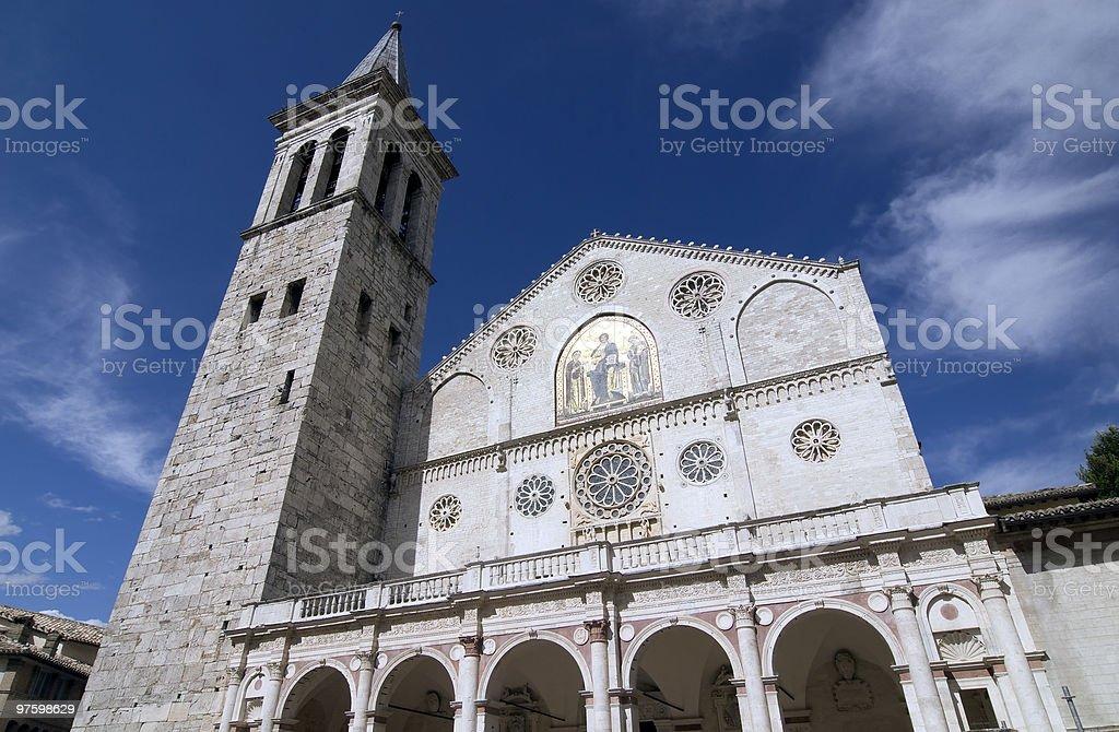 Cathédrale de Spoleto photo libre de droits