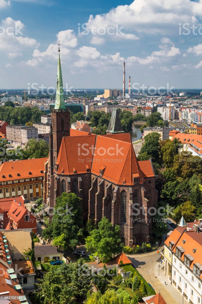 Cathedral of St Bartholomew and the Holy Cross stock photo