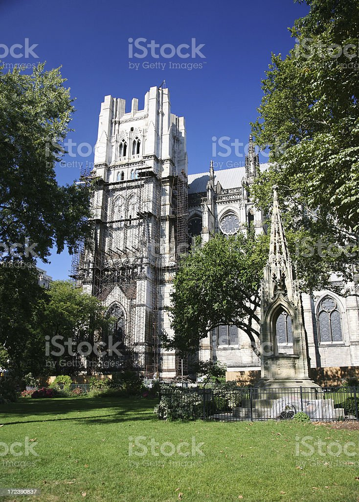 Cathedral Of St John The Divine, New York City stock photo