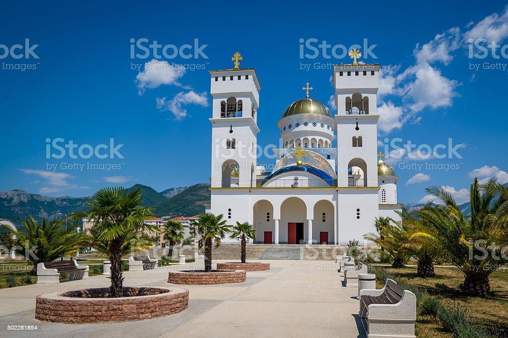 Catedral de St Jovan Vladimir in Montenegro - foto de stock