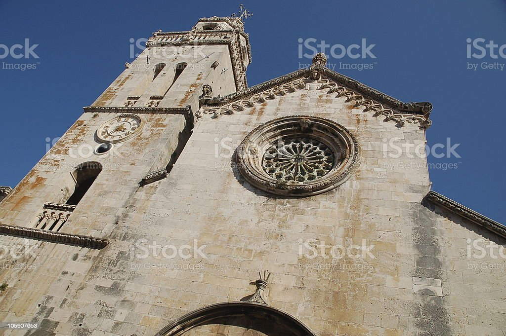 Cathedral of St. Mark, Korcula, Croatia stock photo