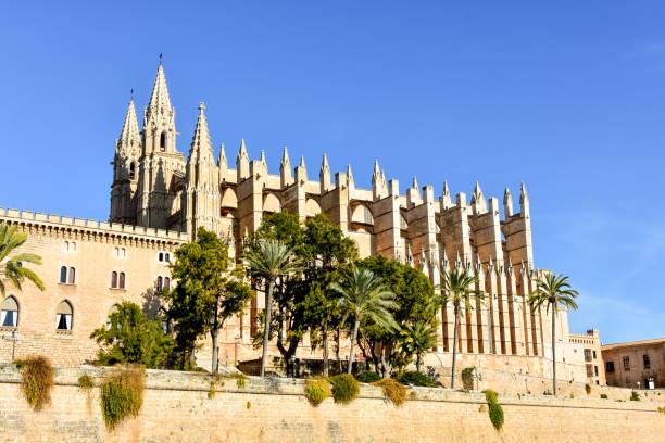 Cathedral of St. Mary of Palma de Mallorca. stock photo