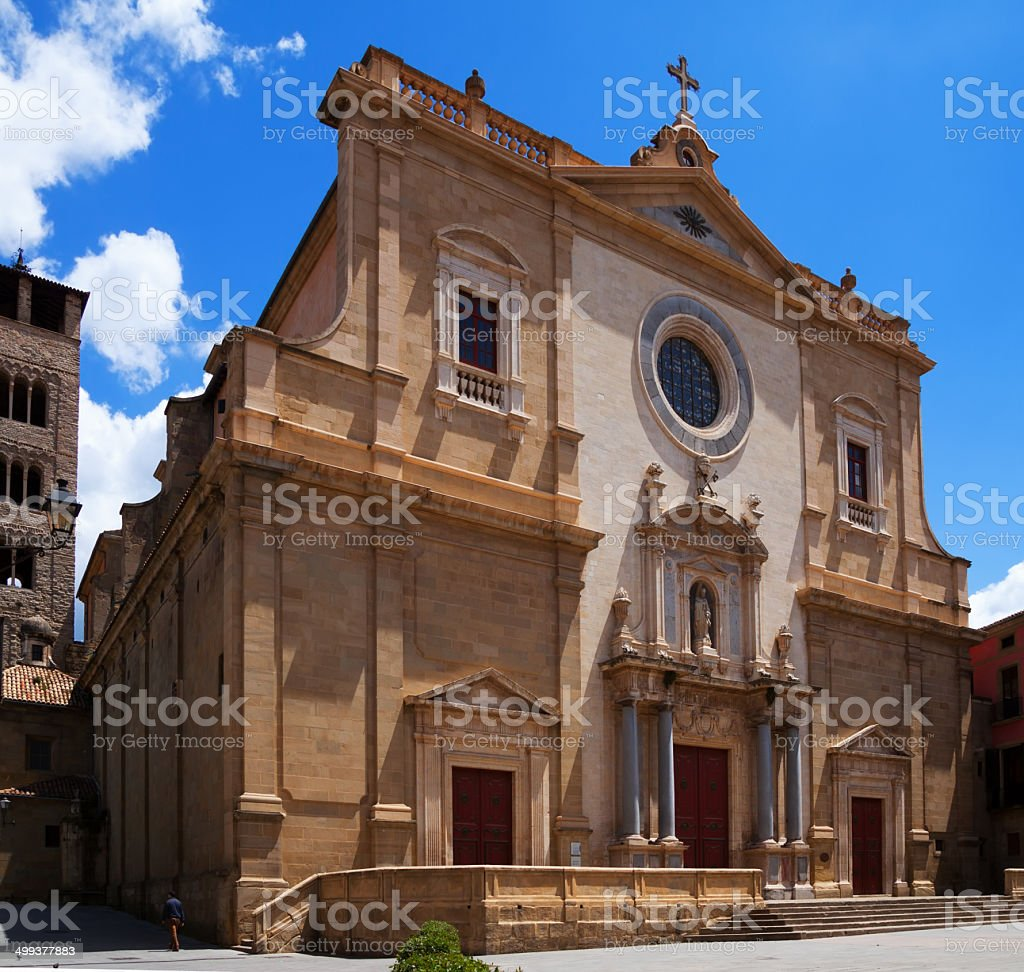Cathedral of St. Peter the Apostle in Vic royalty-free stock photo
