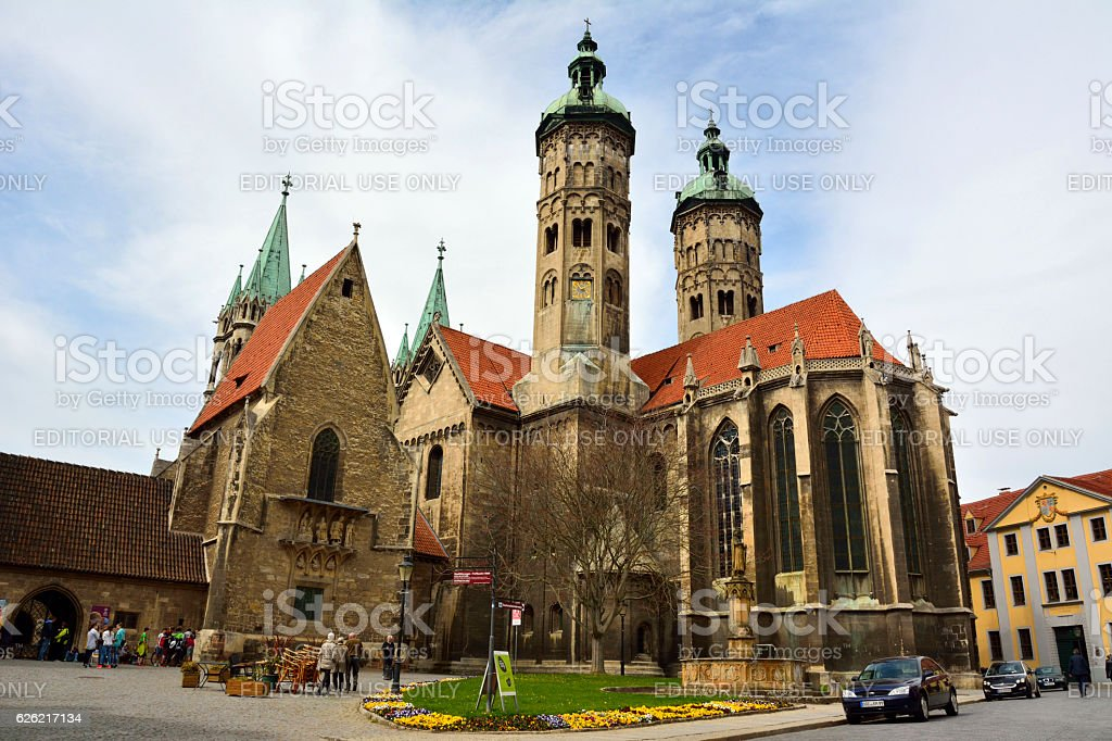 Cathedral of Sts Peter and Paul (Dom) in Naumburg stock photo