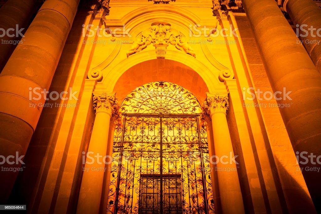 Cathedral of Syracuse entrance zbiór zdjęć royalty-free