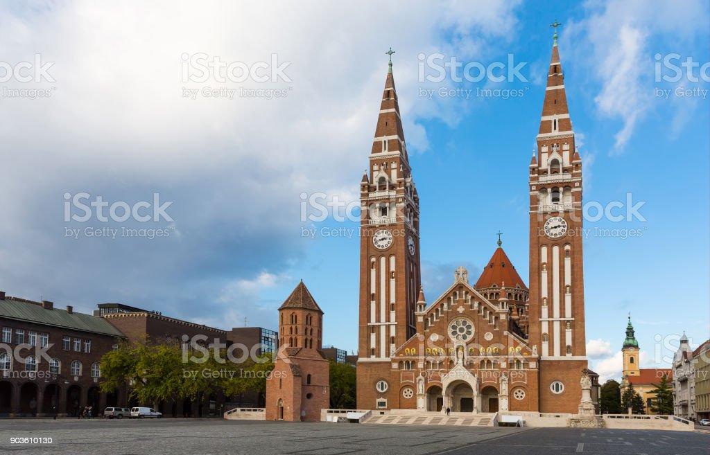 Catedral de Szeged é famoso marco - foto de acervo
