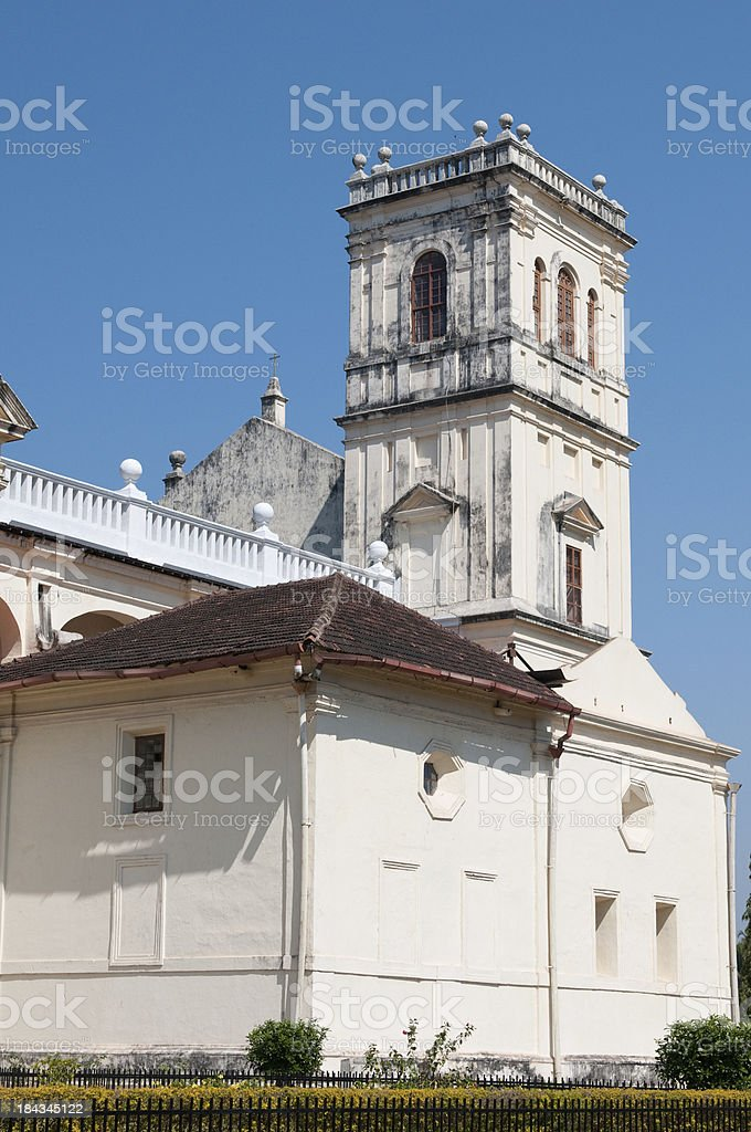 Cathedral of the Archdiocese Goa e Damao, India royalty-free stock photo