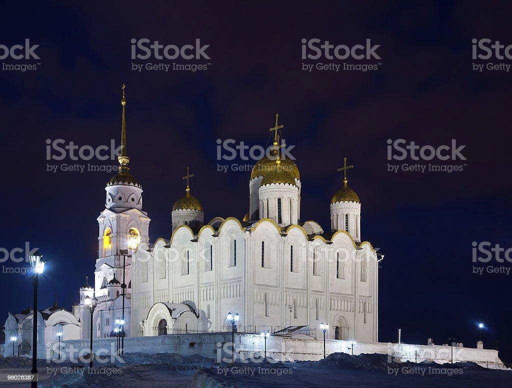 Cattedrale dell'Assunzione di notte foto stock royalty-free