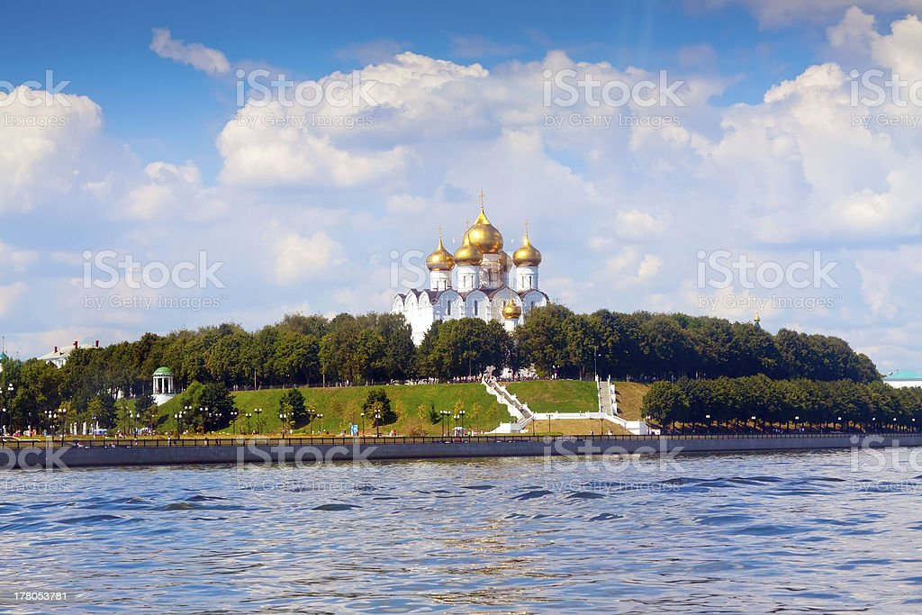 Cathedral of the Assumption in Yaroslavl stock photo