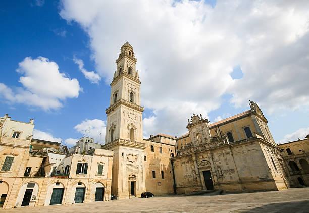 cattedrale dell'assunzione della vergine maria a lecce - ferragosto foto e immagini stock