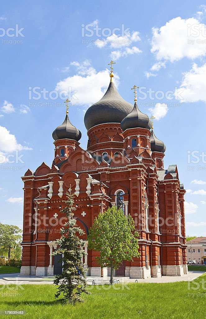Cathedral of the Dormition (1902) in Tula city, Russia stock photo