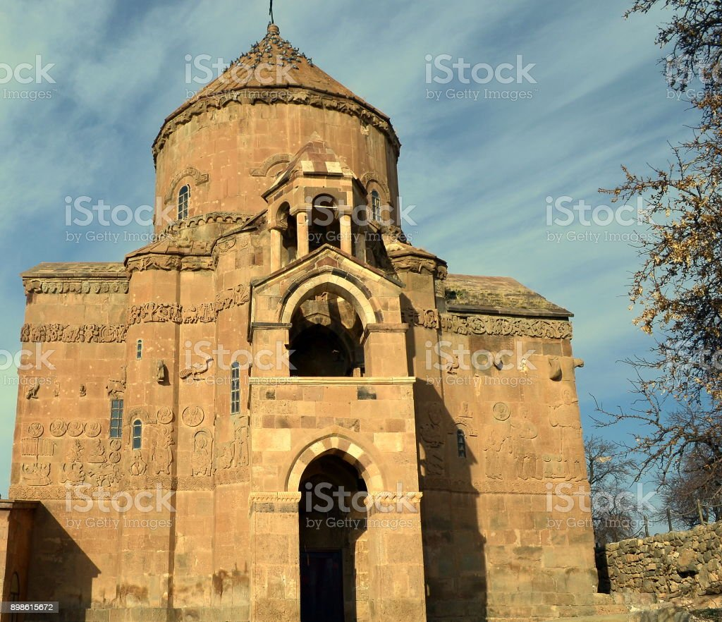 Cathedral of the Holy Cross, Aghtamar stock photo