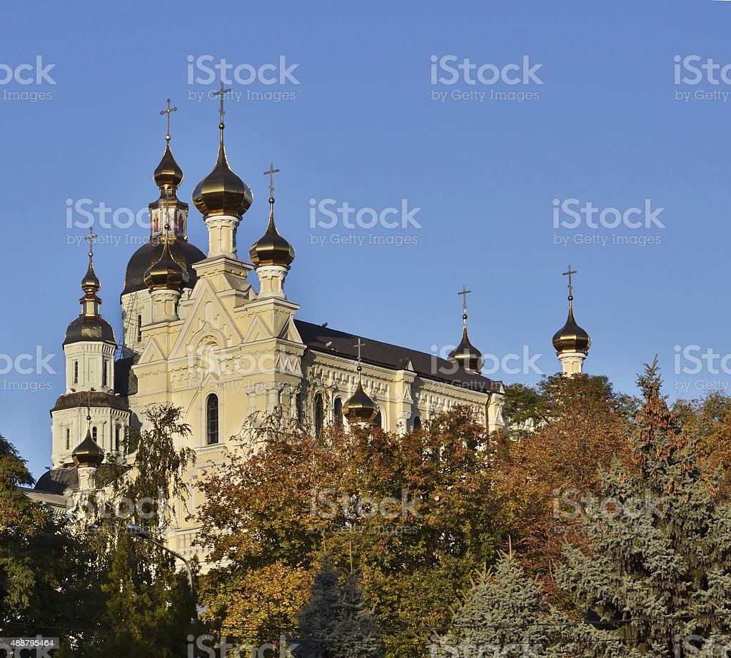Cathedral of the Holy Virgin stock photo