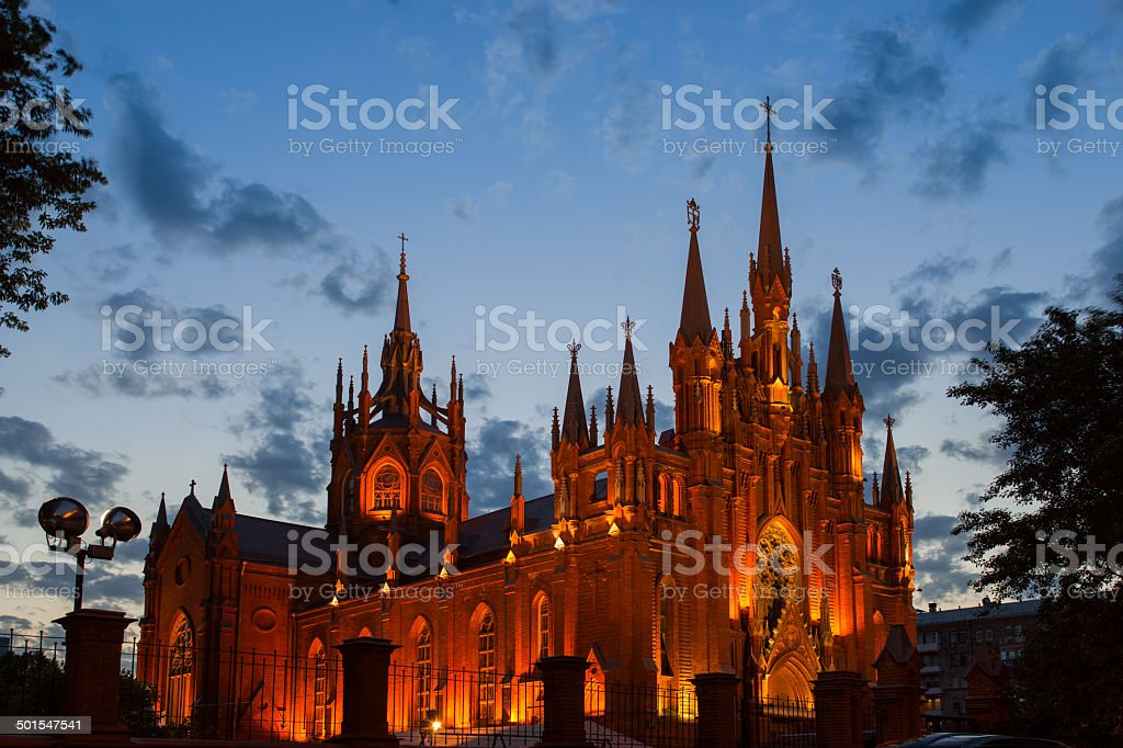 Cathedral of the Immaculate Conception of the blessed virgin Mary. stock photo