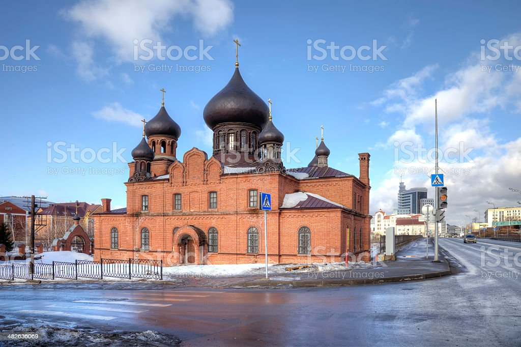 Cathedral of the Intercession Believer stock photo