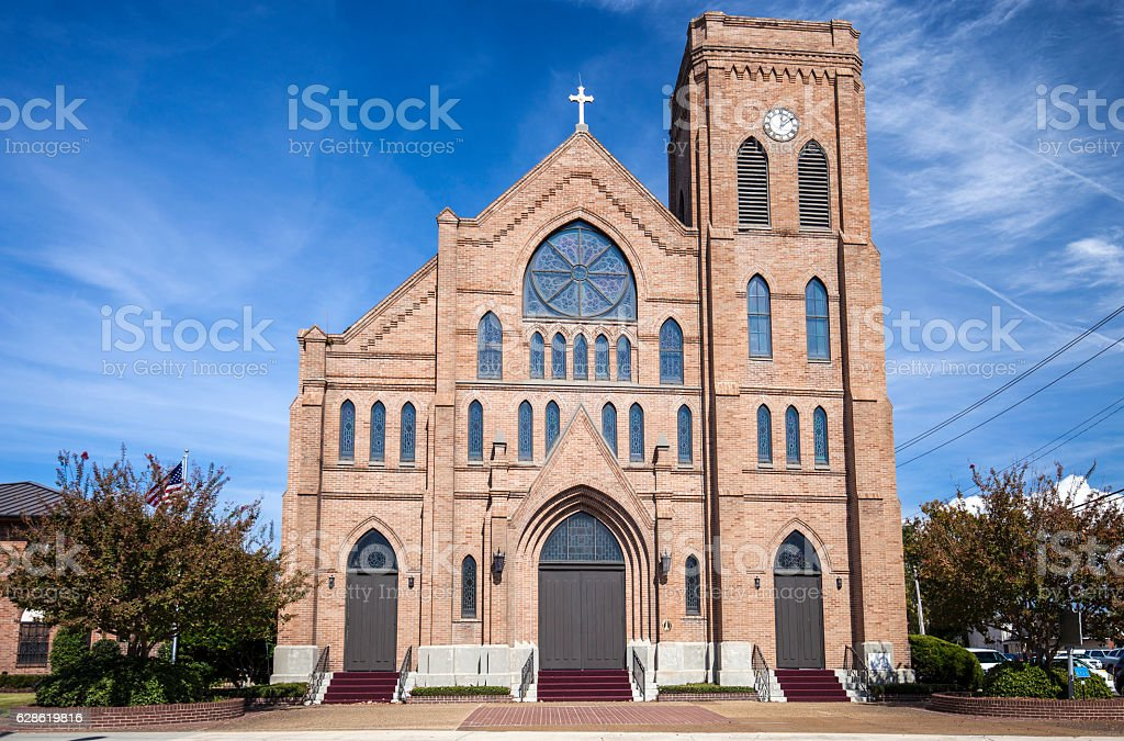 Cathedral Of The Nativity Of The Blessed Virgin Mary In Biloxi, Mississippi stock photo