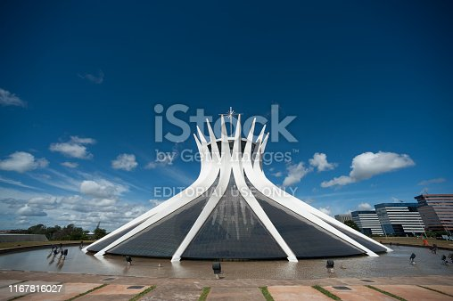 Brasilia, Brazil - May 17 2013: Church and Cathedral of Brasilia made it by Oscar Niemeyer