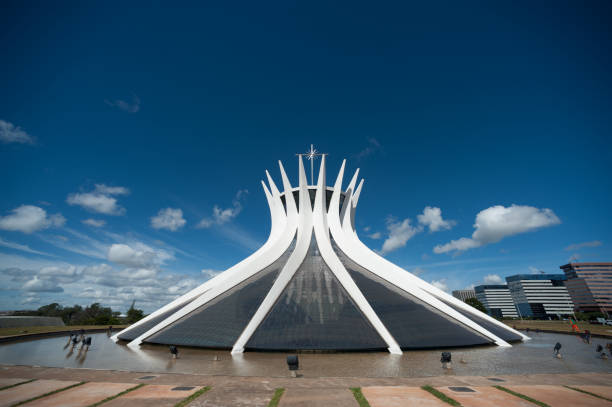 Cathedral of the republic in Brazil stock photo