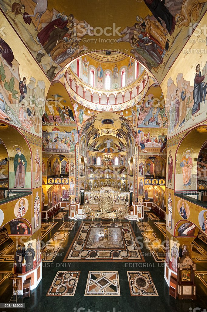 Cathedral of the Resurrection In Podgorica, Montenegro stock photo