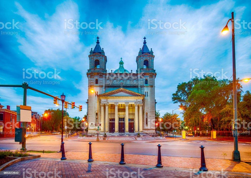 Cathédrale du Sacré-cœur à Richmond, Virginie - Photo de Bâtiment vu de l'extérieur libre de droits