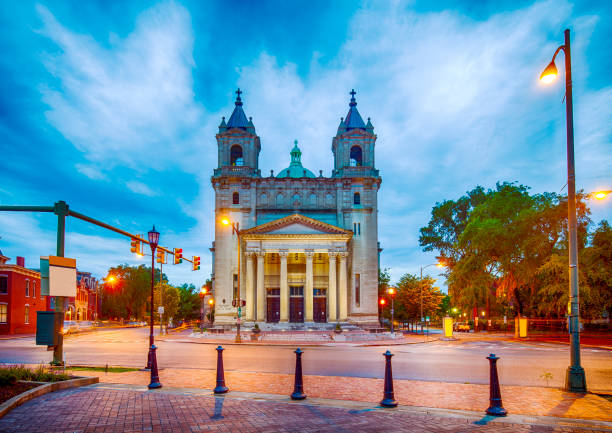 Cathedral Of The Sacred Heart In Richmond, Virginia stock photo