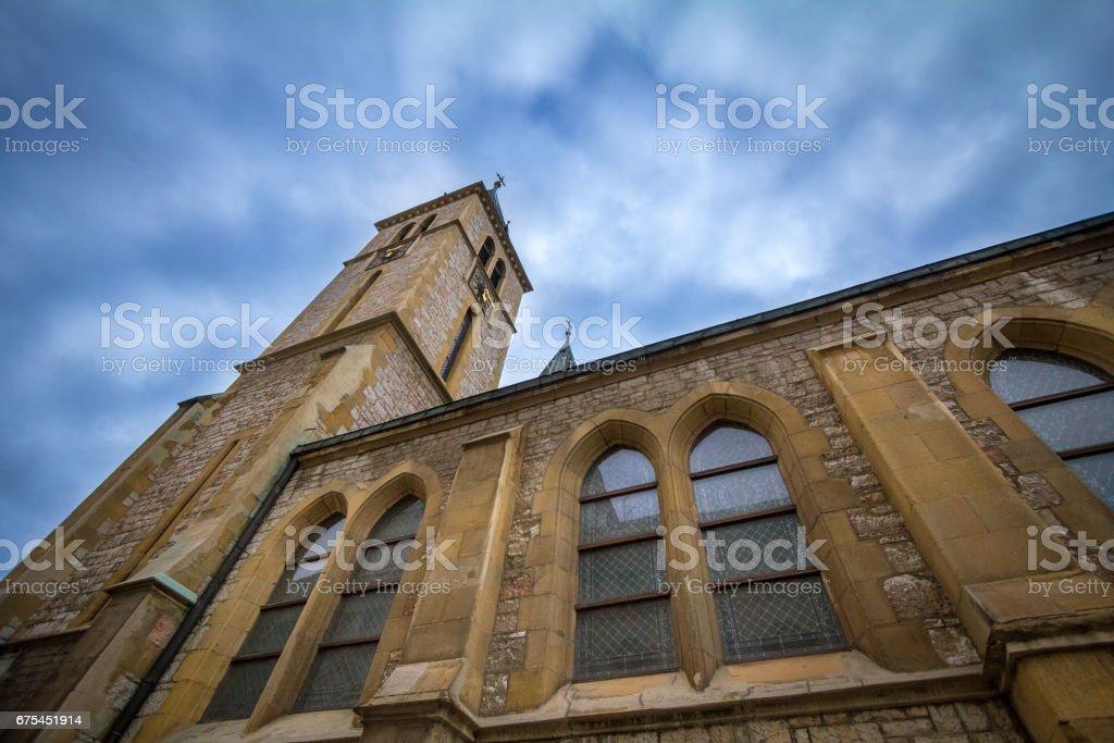 Cathédrale du Sacré-cœur à Sarajevo, en Bosnie-Herzégovine. Cette église est l'un du principal point de repère du catholicisme en Bosnie photo libre de droits