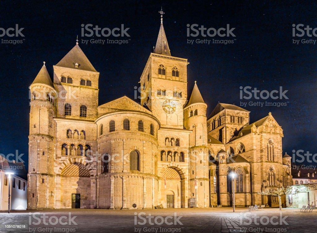 Dom von Trier in der Nacht, Rheinland-Pfalz, Deutschland – Foto