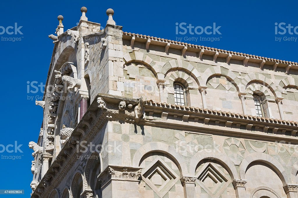 Cathedral of Troia. Puglia. Italy. stock photo