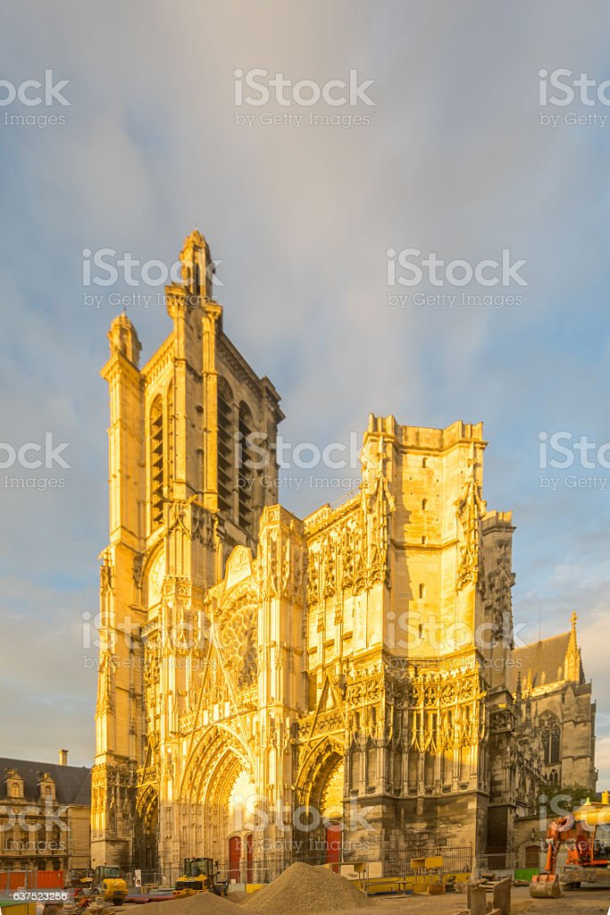 Cathedral (Saint-Pierre-Saint-Paul), of Troyes stock photo
