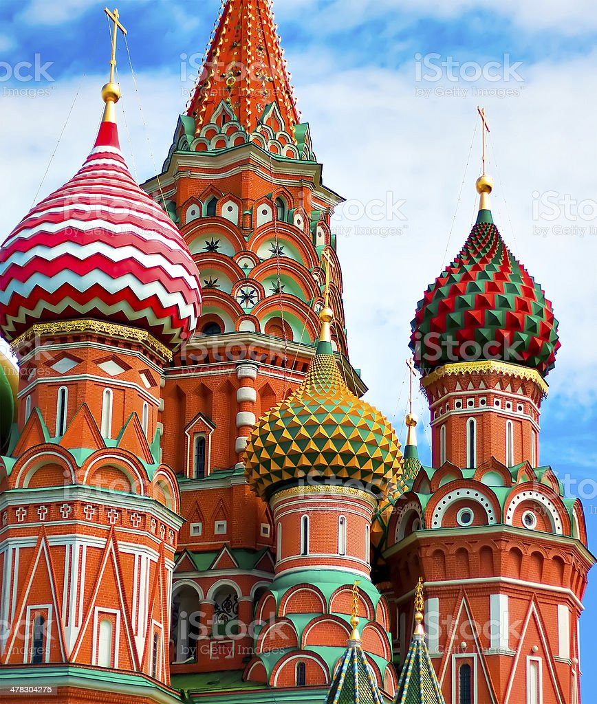 Cathedral of Vasily the Blessed in Moscow royalty-free stock photo