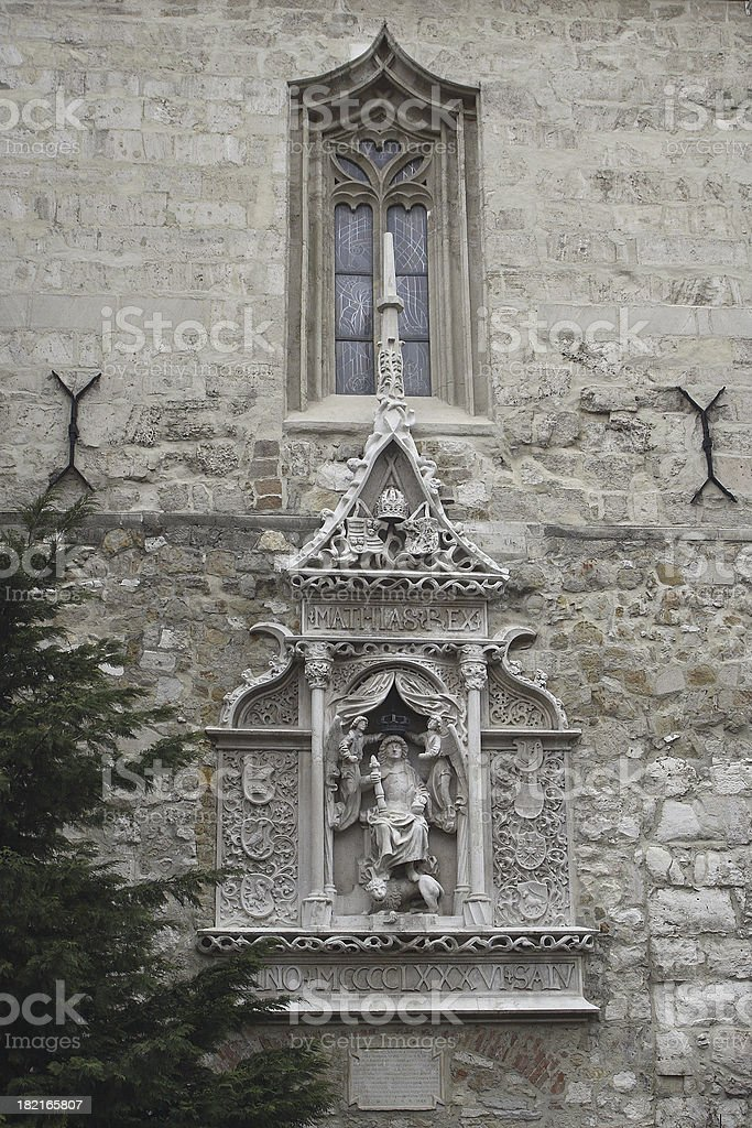 Cathedral Ornaments, Budapest, Hungary stock photo