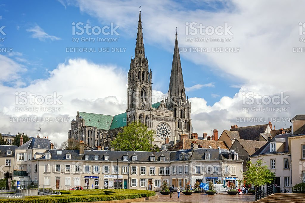 Cathedral Our Lady of Chartres, France stock photo