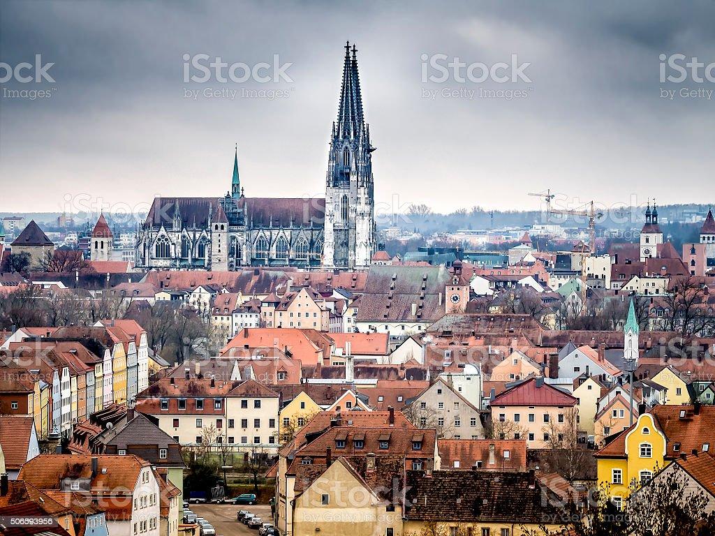 Cathedral Regensburg stock photo