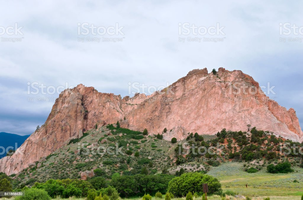 Cathedral Rock at Garden of the Gods stock photo