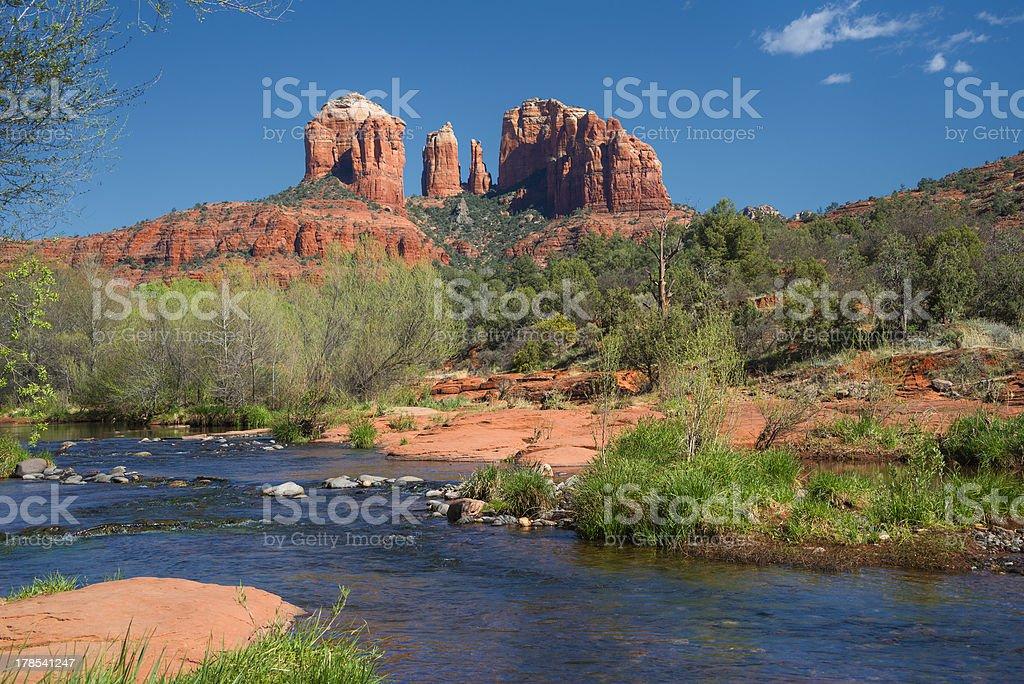 Cathedral Rock In Sedona Arizona stock photo