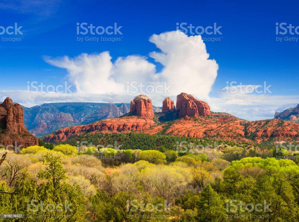 Cathedral Rock near Sedona stock photo