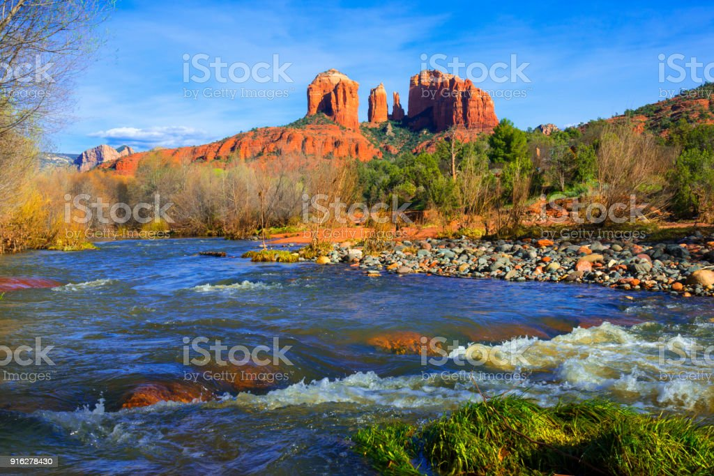 Kathedraal Rock in de buurt van Sedona - Royalty-free Arizona Stockfoto