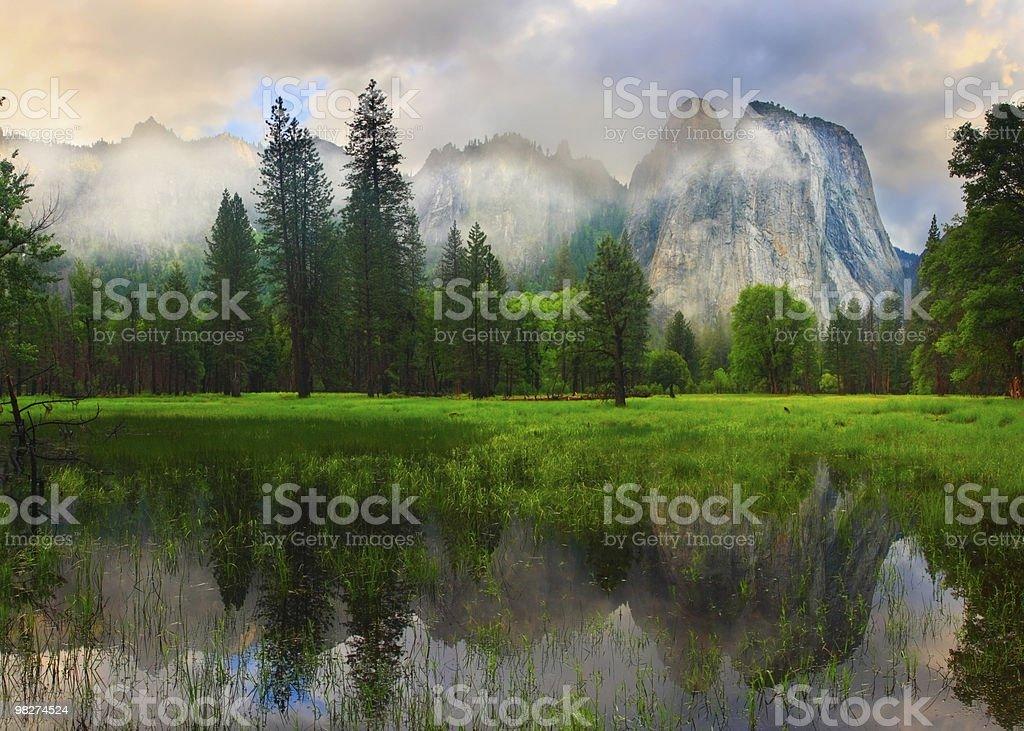Cathedral Rocks Panorama royalty-free stock photo