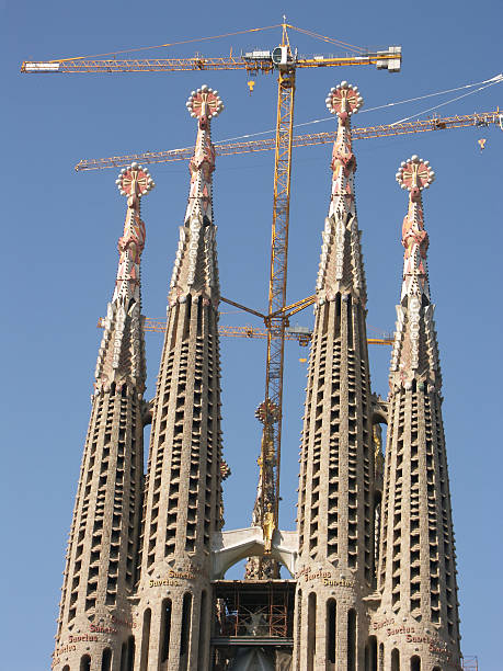 Cathedral Sagrada Famiglia  famiglia stock pictures, royalty-free photos & images