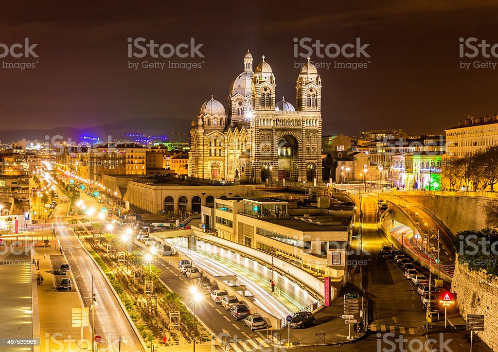 Cathedral Sainte-Marie-Majeure of Marseille stock photo