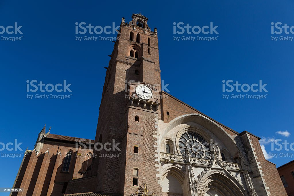 Cathedral Saint-Etienne in Toulouse, France stock photo