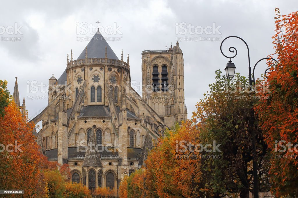 Cathedral Saint-Etienne of Bourges stock photo