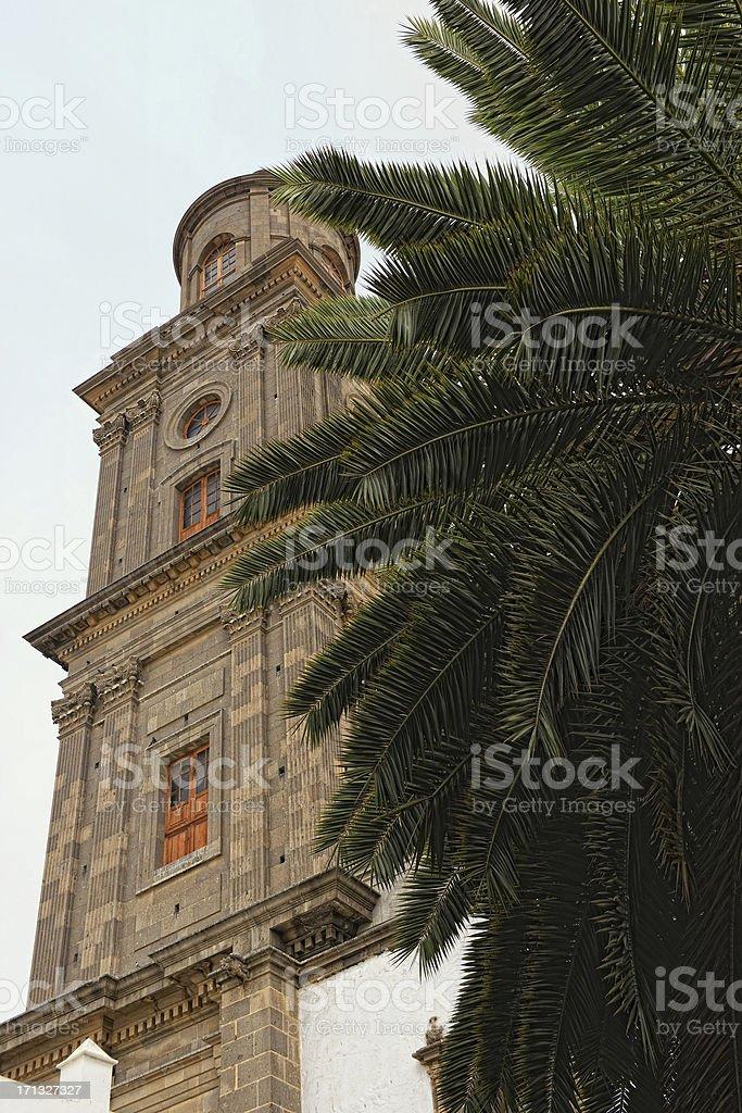 Cathedral Santa Ana in Las Palmas de Gran Canaria royalty-free stock photo