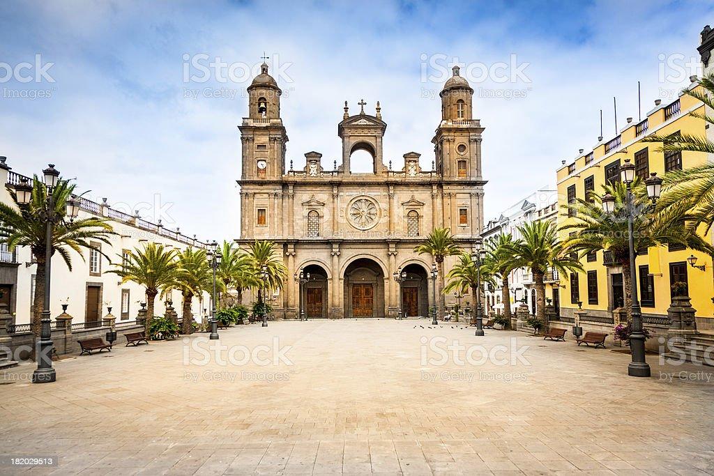 Cathedral Santa Ana Las Palmas de Gran Canaria stock photo