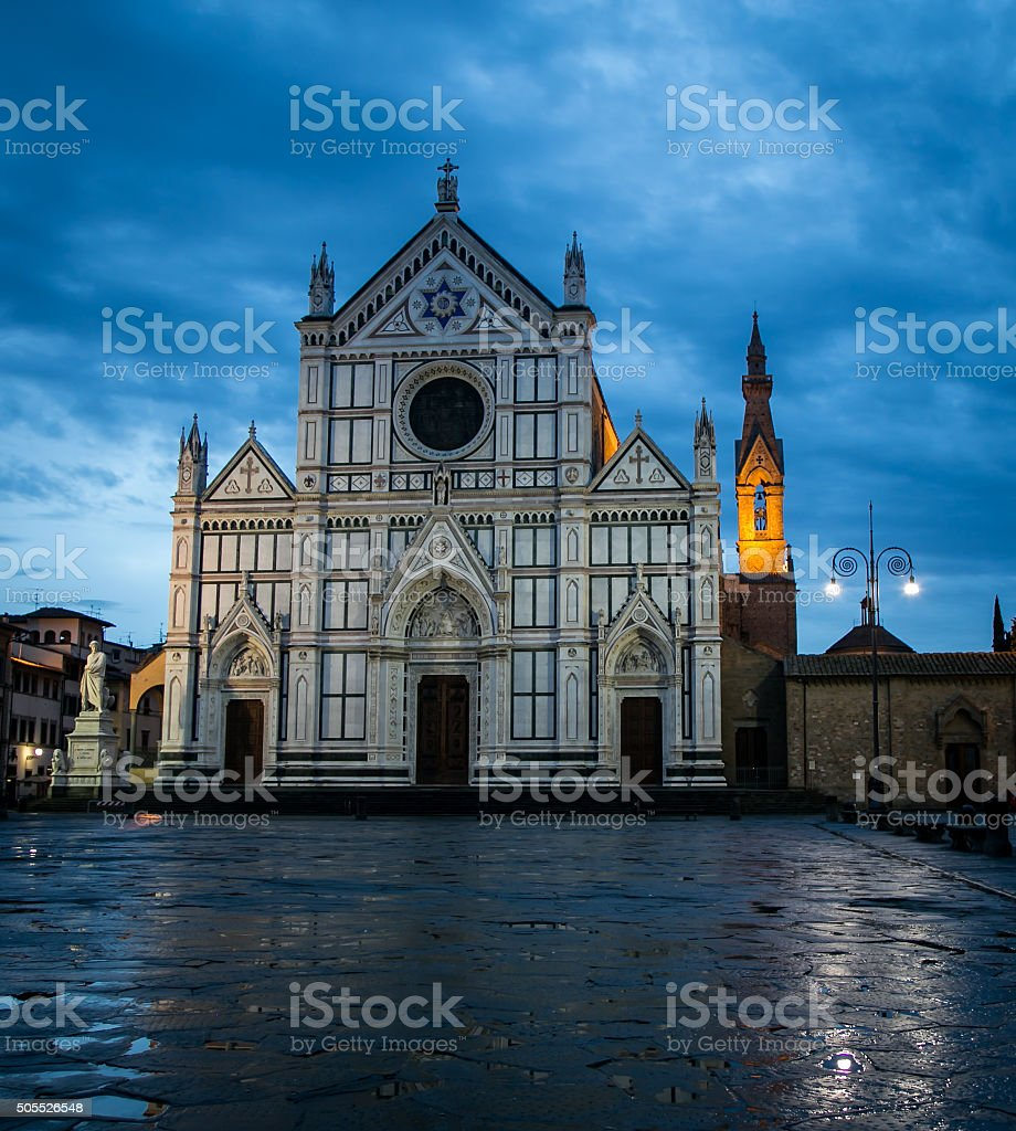 Cathedral Santa Croce  Florence stock photo