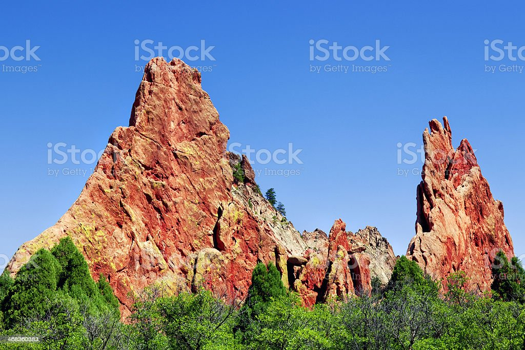 Cathedral Spires - Garden of the Gods royalty-free stock photo