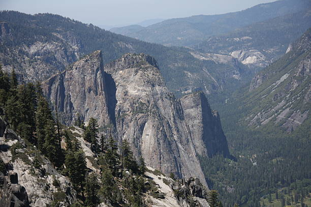 Cathedral Spires in Yosemite National Park stock photo
