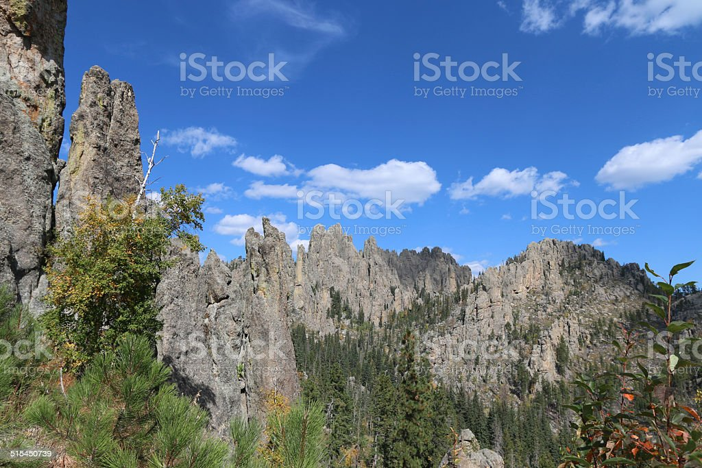Cathedral Spires on Needles Highway - Black Hills stock photo